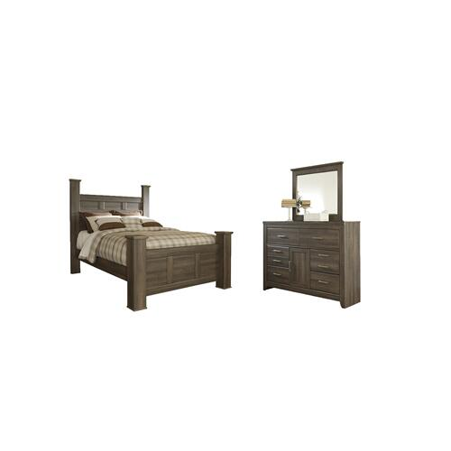 Ashley - Queen Poster Bed With Mirrored Dresser