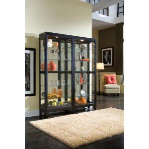 Pulaski Furniture - Lighted Gallery Style 5 Shelf Curio Cabinet in Onyx Black