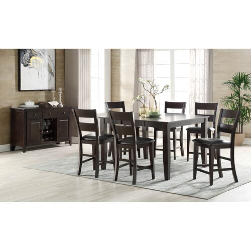 Fairwood Gathering Height Dining Table, Espresso Brown 1289-tpb5454