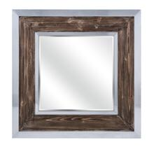 Shevon Wood and Metal Framed Mirror