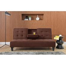 7501 DARK BROWN Dacron Futon Sofa Bed