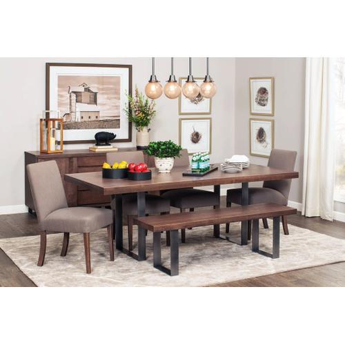 Simply Amish - Ironwood Trestle Table, 42'w x 84'l / Black
