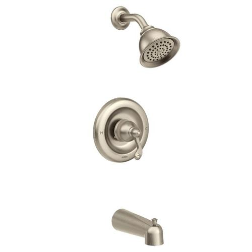 Traditional spot resist brushed nickel posi-temp® tub/shower