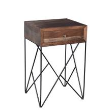 Bengal Manor Wood and Metal Accent Table