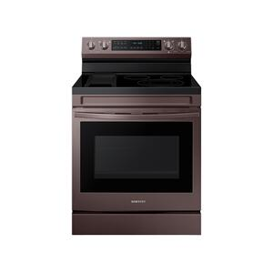 Samsung Appliances6.3 cu. ft. Smart Freestanding Electric Range with No-Preheat Air Fry, Convection+ & Griddle in Tuscan Stainless Steel