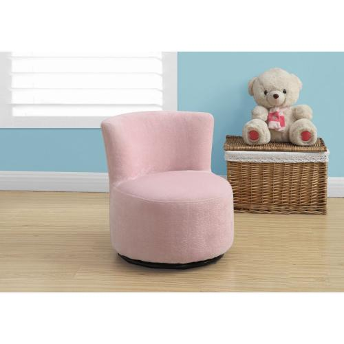 Gallery - JUVENILE CHAIR - SWIVEL / FUZZY PINK FABRIC