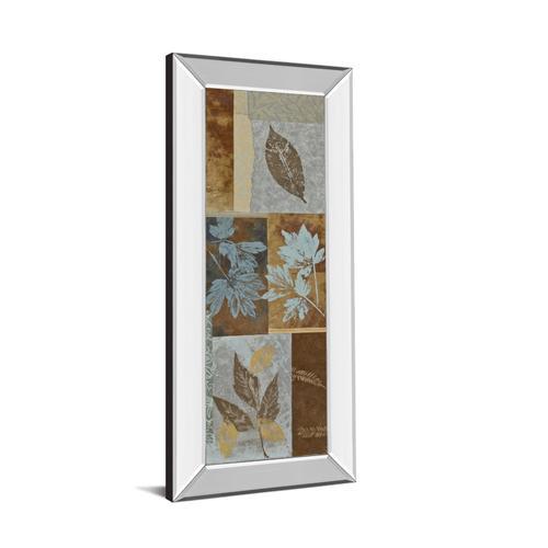 "Classy Art - ""Blue Fusion Panel I"" By Jeni Lee Mirror Framed Print Wall Art"