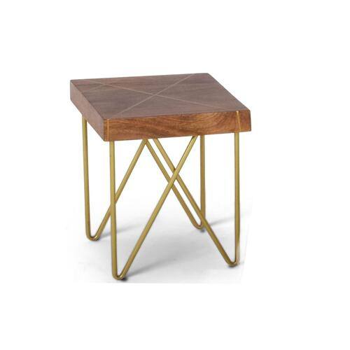 Walter Brass Inlay End Table