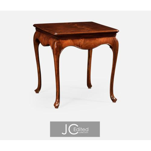 Square side table in antique mahogany