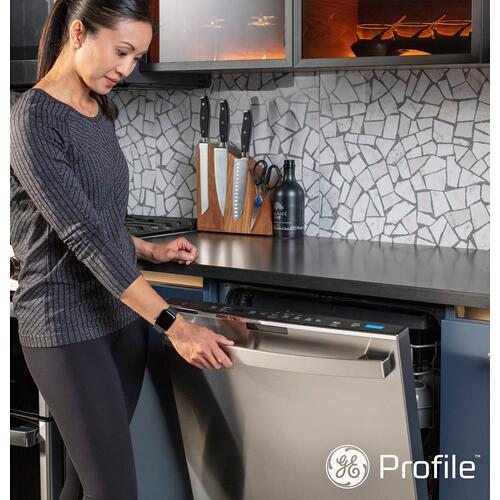 Gallery - GE Profile™ UltraFresh System Dishwasher with Stainless Steel Interior