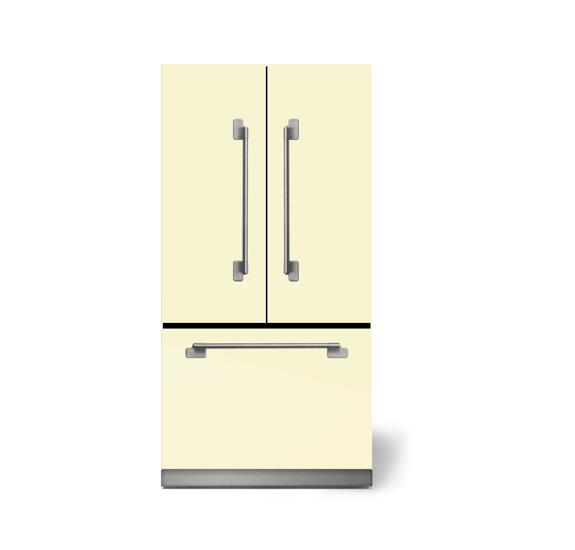 "AGAAga Elise 36"" French Door Refrigerator, Ivory"