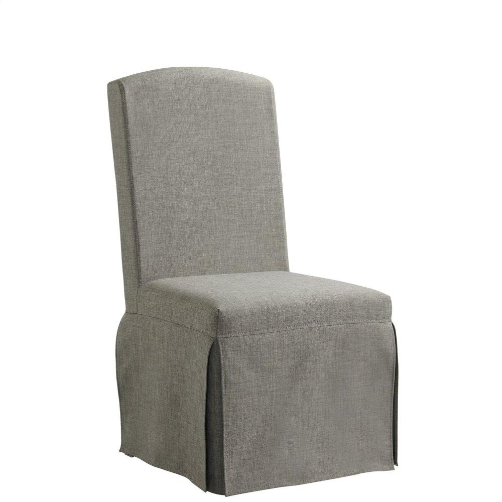 Regency - Upholstered Slipcover Chair - Matte Black Finish