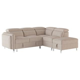 Viggo Sectional with Pull-out Bed and Storage Ottoman