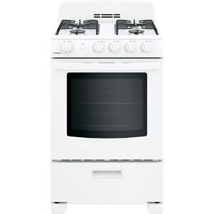 "HOTPOINTHotpoint® 24"" Front-Control Free-Standing Gas Range with Large Window"