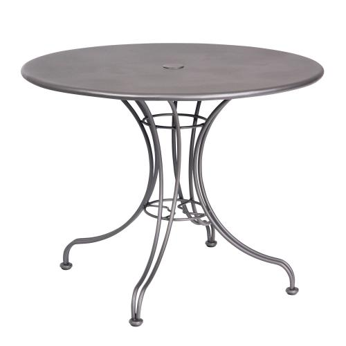 """Woodard Furniture - Solid Iron 36"""" Round Umbrella Table with Universal Base"""