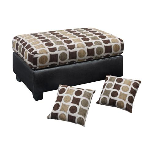 Gallery - Ottoman W Accent Pillows