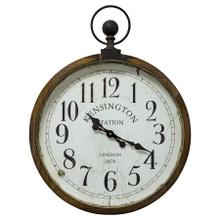 See Details - Kensington Station Pocket Watch Style Wall Clock