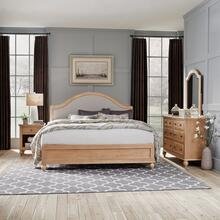 5170-6023 Cambridge White King Bed, Nightstand and Dresser with Mirror