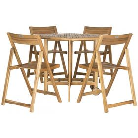 Kerman Table and 4 Chairs - Natural