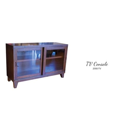 American Wholesale Furniture - Slate Top TV Console