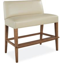 L7000-57 Leather Dual Seat Bar Bench