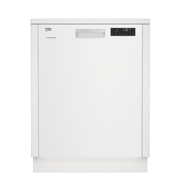 Beko Tall Tub White Dishwasher, 14 place settings, 48 dBa, Front Control