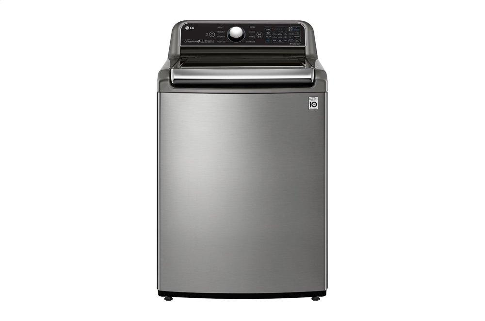 LG Appliances4.8 Cu. Ft. Mega Capacity Smart Wi-Fi Enabled Top Load Washer With Agitator And Turbowash3d™ Technology