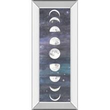 """Moon Chart I"" By Naomi Mccavitt Mirror Framed Print Wall Art"