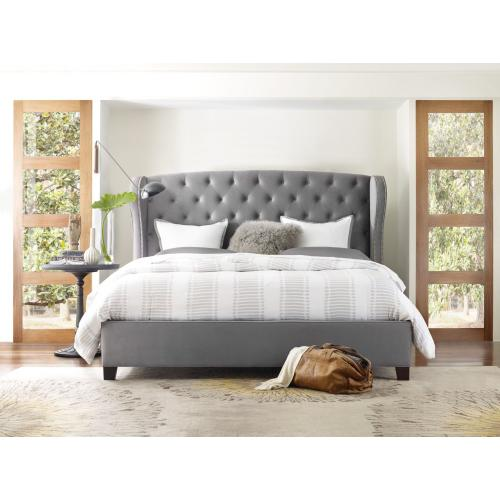 Bedroom Nest Theory Heron Tufted 62in King Upholstered Bed