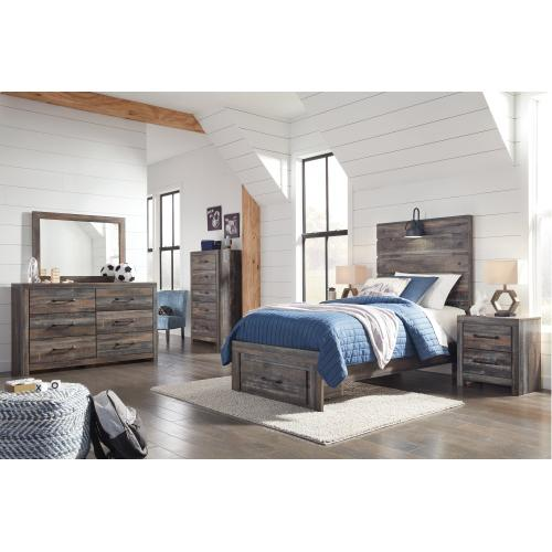 Drystan Twin Panel Bed With 1 Storage Drawer