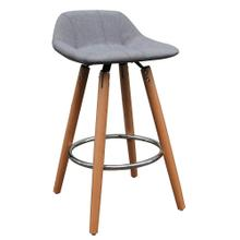 Camaro 26'' Counter Stool, set of 2 in Grey/Natural Legs