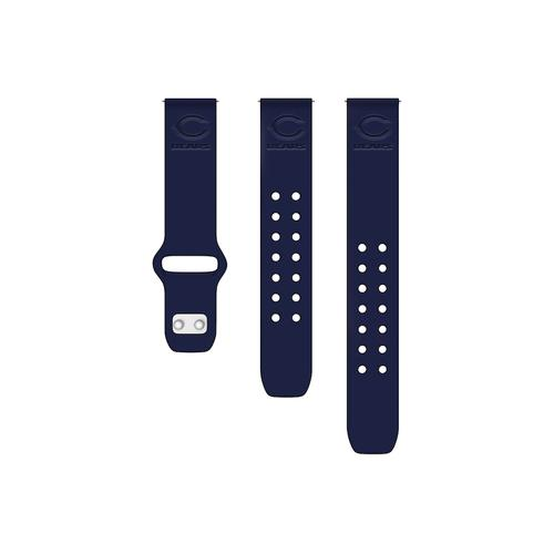 Chicago Bears Debossed Silicone Watch Band (20mm) Navy Blue