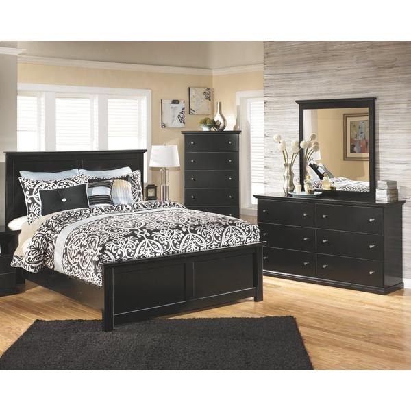 See Details - King/california King Panel Headboard With Mirrored Dresser and Chest