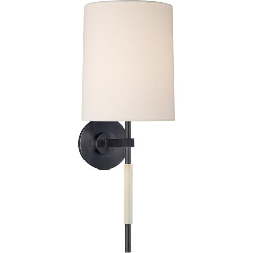 Visual Comfort BBL2130BZ-L Barbara Barry Clout 1 Light 8 inch Bronze Tail Sconce Wall Light