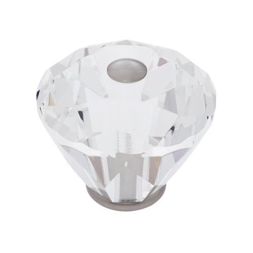 Satin Nickel 40 mm Diamond Cut Knob