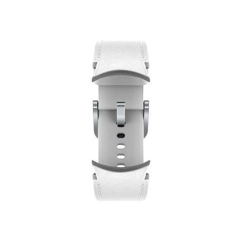 Samsung - Galaxy Watch4, Galaxy Watch4 Classic Hybrid Leather Band, S/M, White