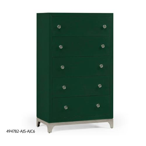 Tall chest with blazer buttons (Forest/Silver)