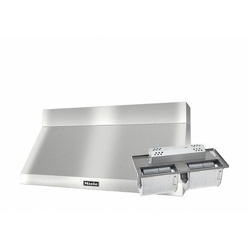 "DAR 1250 Set 1 Wall-Mounted Range Hood with Extraction Mode with integrated XXL motor including 6"" chimney cover."