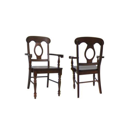 Napoleon Arm Chairs - Chestnut (Set of 2)