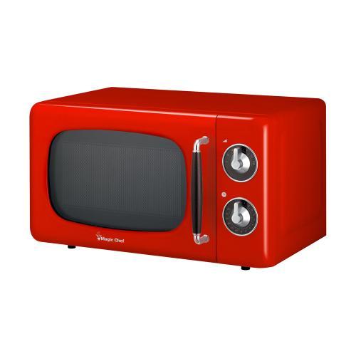 Magic Chef - 0.7 cu. ft. Countertop Retro Microwave Oven