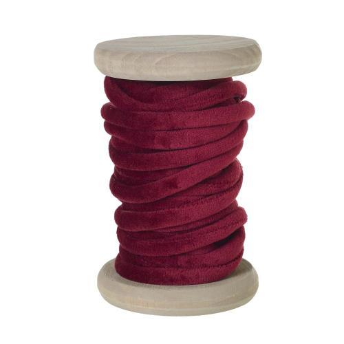 5.5 yards Red Velvet Yarn Spool