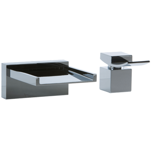 Quarto 2-Hole Deck Mount Open Chute Tub Filler with Lever Control