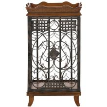 Robin Wine Rack With Removable Tray - Brown