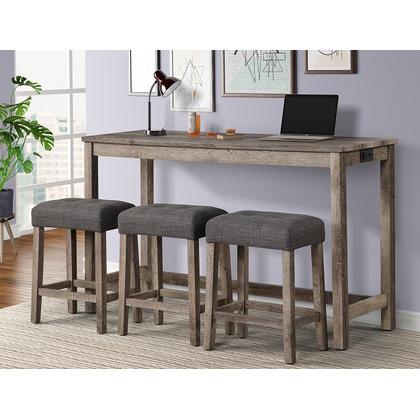 See Details - Rowan Bar Table + 3