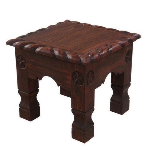 Dark Rope End Table With Stars