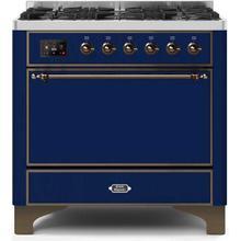 36 Inch Blue Dual Fuel Natural Gas Freestanding Range