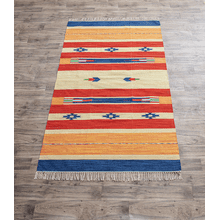 Hand Woven Bright Southwest Tribal 5' x 8' Rug