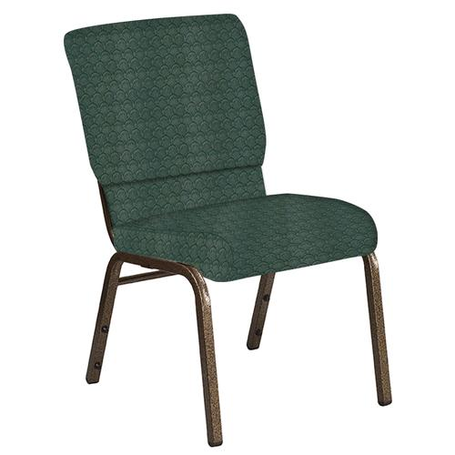 Flash Furniture - 18.5''W Church Chair in Arches Forest Fabric - Gold Vein Frame