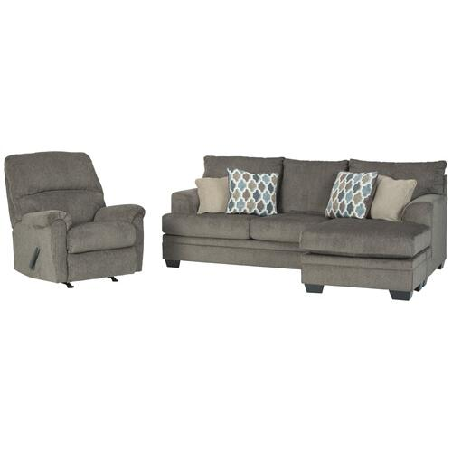 Sofa Chaise and Recliner