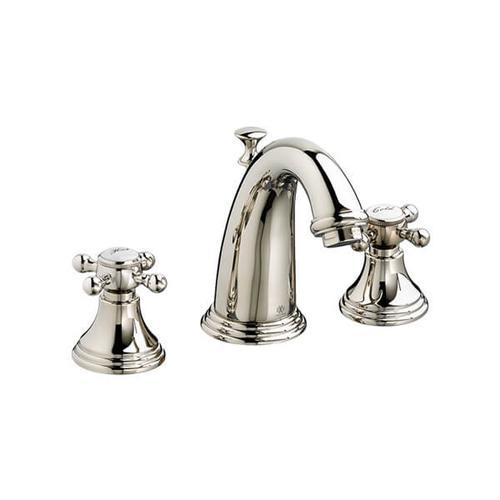 Dxv - Ashbee Widespread Bathroom Faucet with Cross Handles - Platinum Nickel